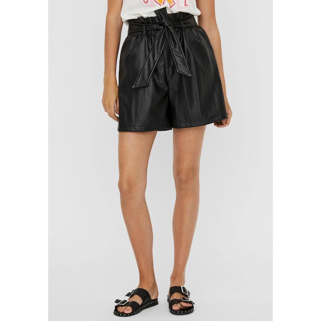 Vero Moda Shorts »VMSOLARIE«, aus Lederimitat