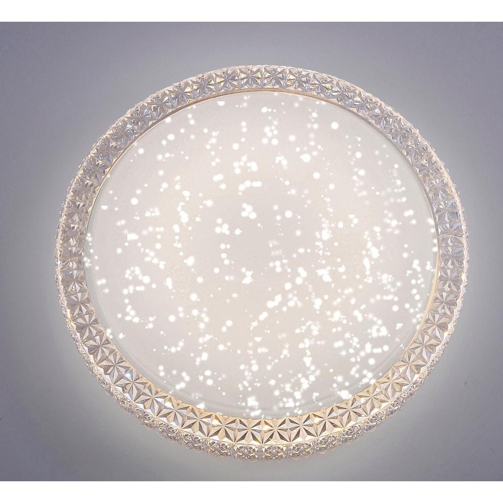 Leuchten Direkt Deckenleuchte »FRIDA«, LED-Board, Warmweiß-Neutralweiß-Tageslichtweiß, 3-Stufen CCT - Farbtemperaturregelung (3000K/4000K/5000K), Dimmbar über Wandschalter, Sternenhimmeloptik, Memoryfunktion, Ø 40 cm
