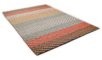 TOM TAILOR Teppich »Pastel Stripe«, rechteckig, 7 mm Höhe, Flachgewebe, Wohnzimmer kaufen