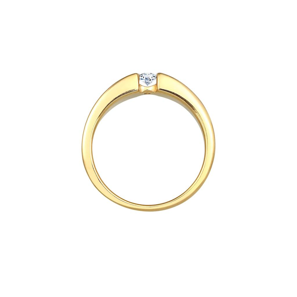 Diamore Diamantring »Verlobungsring Diamant (0.11 ct.) 585 Gelbgold«