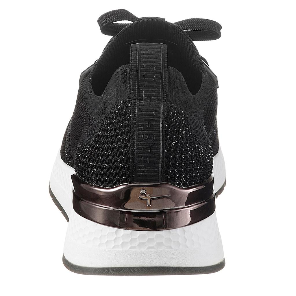 Tamaris Slip-On Sneaker »Fashletics«, mit Metallic-Besatz an der Ferse