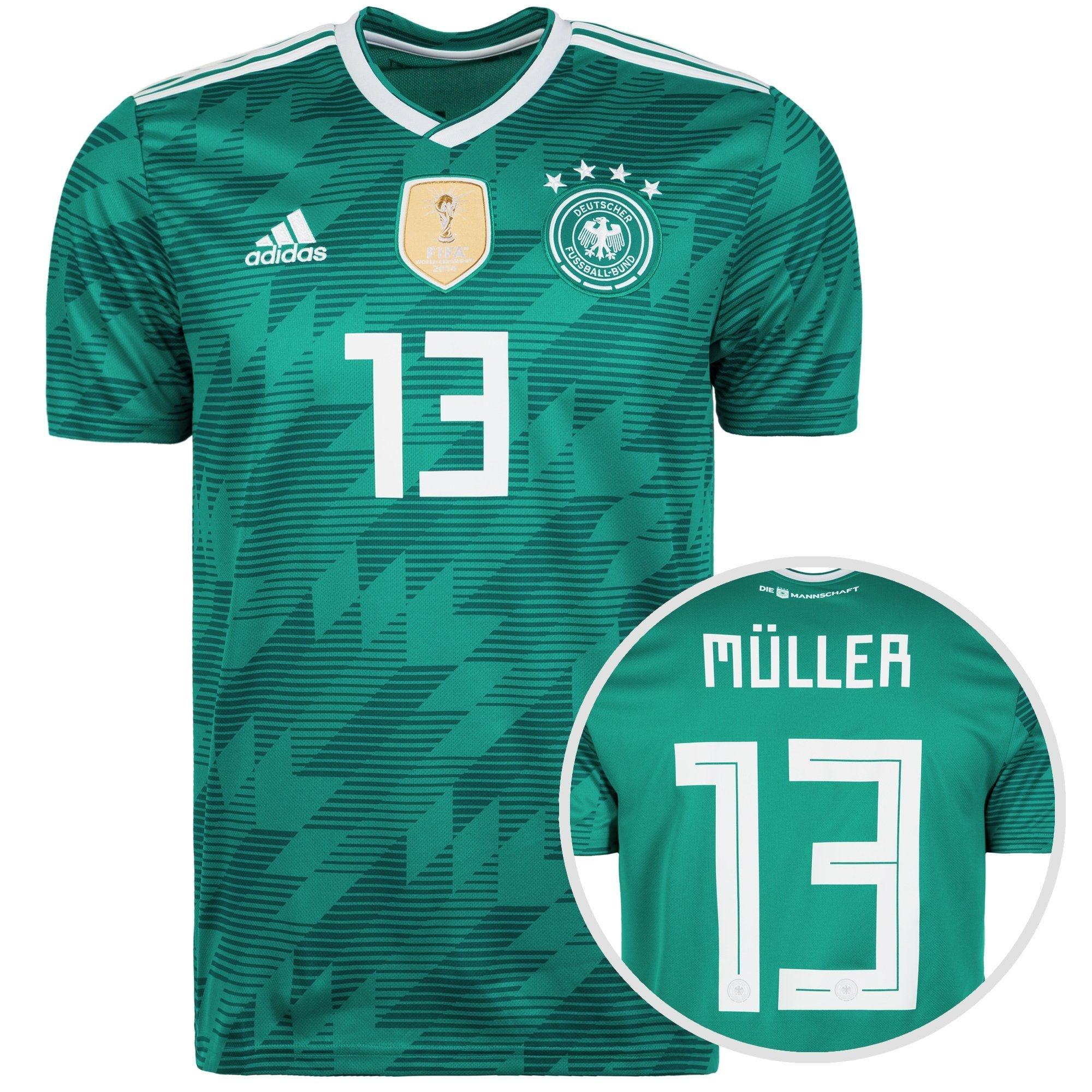 Adidas Thomas Müller Deutschland Home Trikot WM 2018 Patches