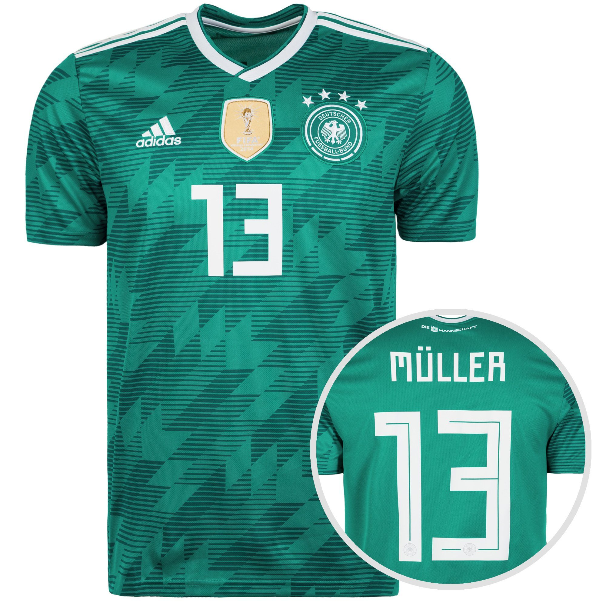 adidas Performance Fußballtrikot Dfb Wm 2018 Müller Auswärts | Sportbekleidung > Trikots > Fußballtrikots | Grün | Wm - Trikot | Adidas Performance