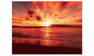Home affaire Glasbild »Beautiful tropical sunset on the beach«, 80/60 cm kaufen