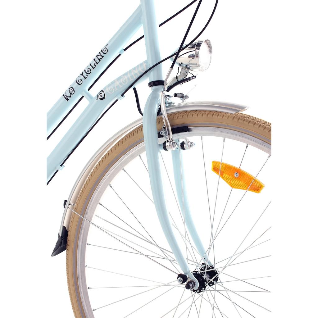 KS Cycling Cityrad »Casino«, 6 Gang, Shimano, Tourney Schaltwerk, Kettenschaltung