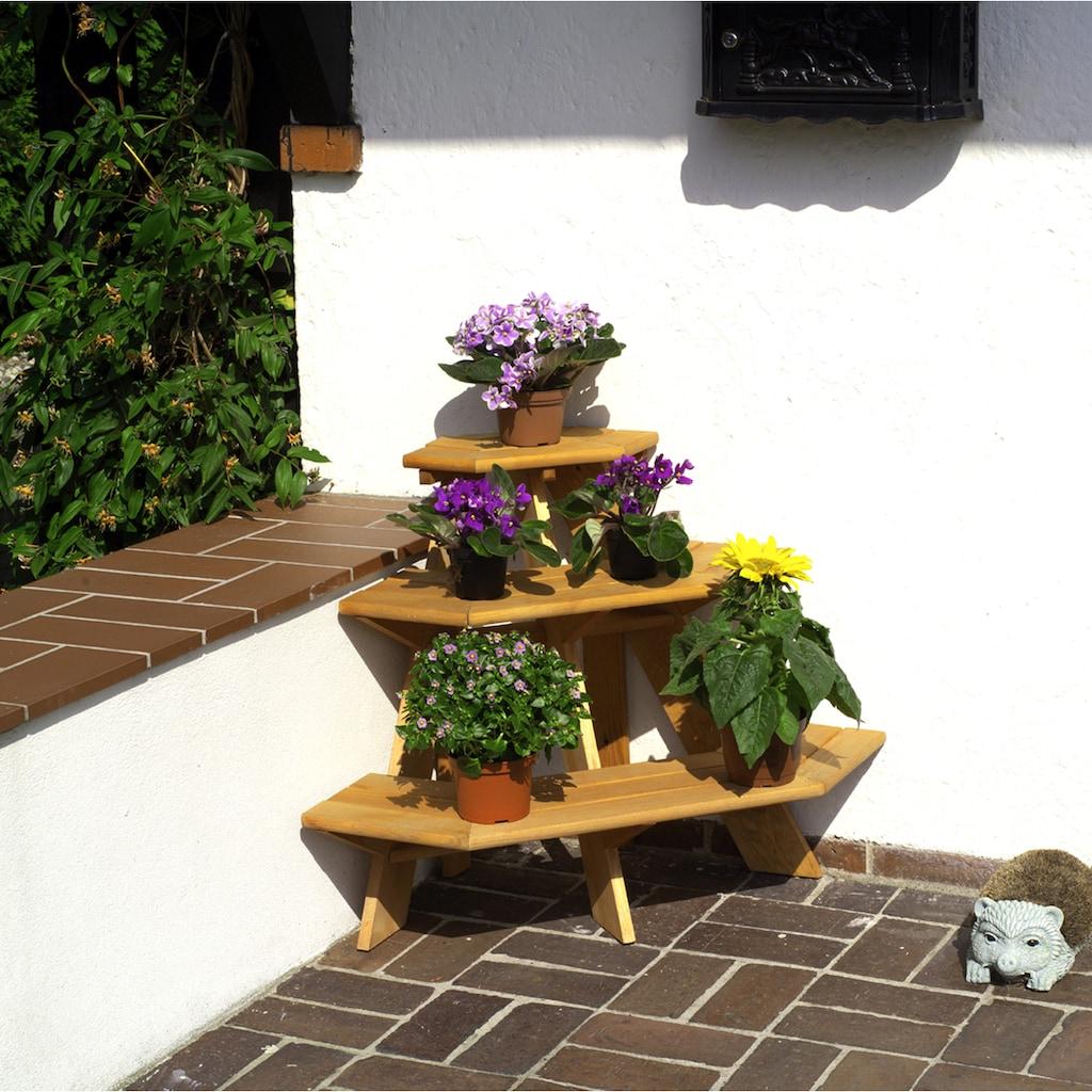 promadino Blumenständer »Blummentreppe Ecke«, BxTxH: 87x59x62 cm
