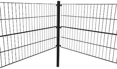 HOME DELUXE Doppelstabmattenzaun, 120 cm hoch, 9 Matten für 6 m Zaun, mit 4 Pfosten kaufen