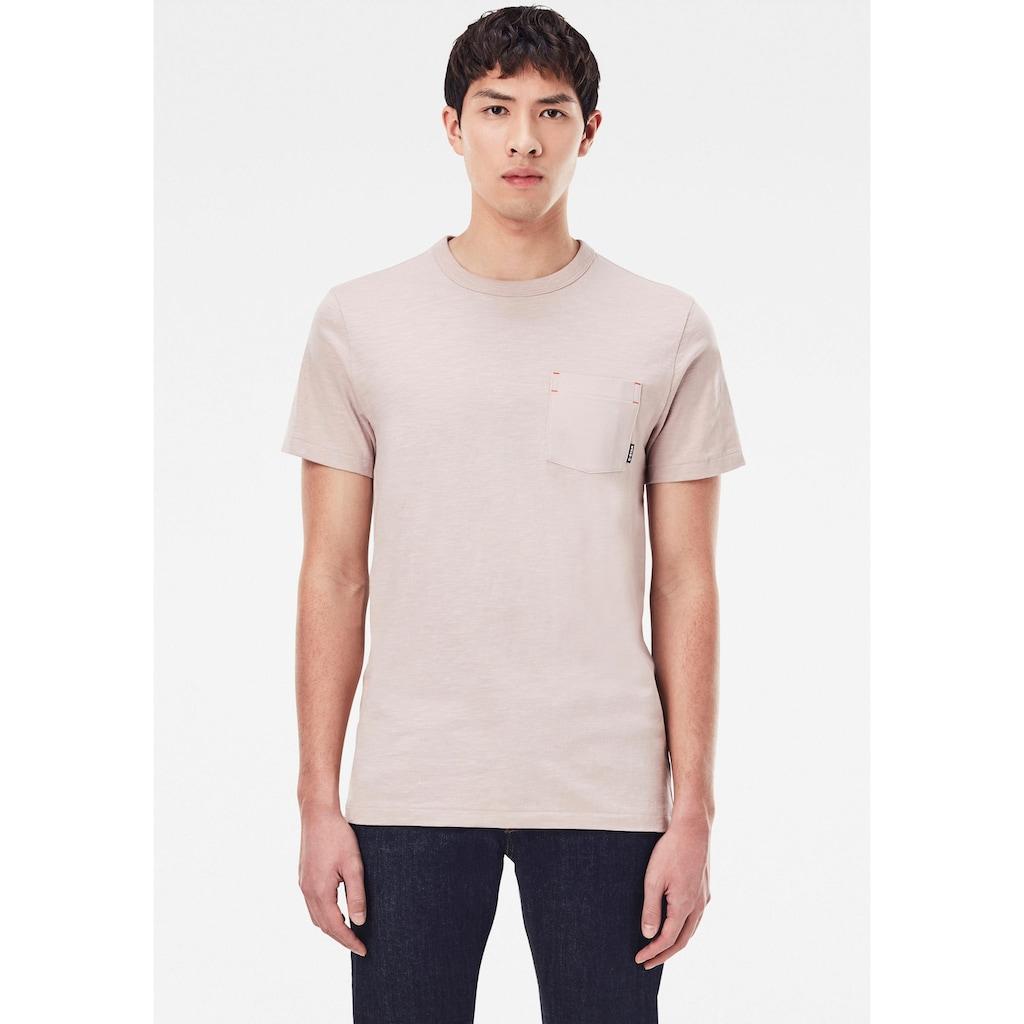 G-Star RAW Rundhalsshirt »Contrast Mercerized Pocket«