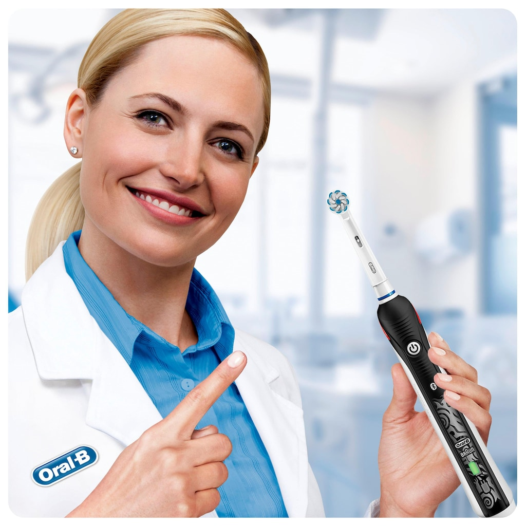 Oral B Elektrische Zahnbürste »Teen Black«, 2 St. Aufsteckbürsten