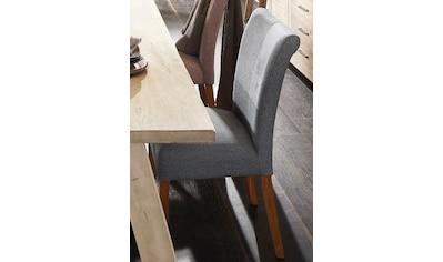 Home affaire 4-Fußstuhl »Queen«, bezogen mit Web- oder Strukturstoff, Microfaser oder Kunstleder. Im 2er-, 4er oder 6er-Set kaufen