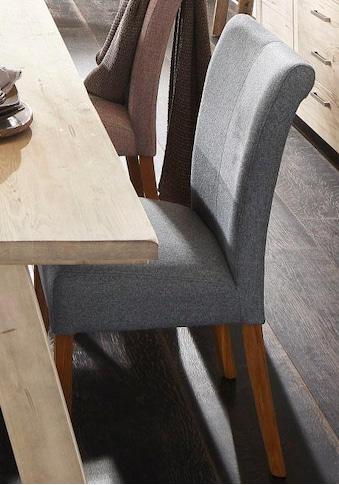 Home affaire 4-Fußstuhl »Queen«, bezogen mit Web- oder Strukturstoff, Microfaser oder... kaufen