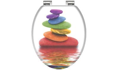 Schütte WC-Sitz »Colorful Stones«, mit Absenkautomatik kaufen