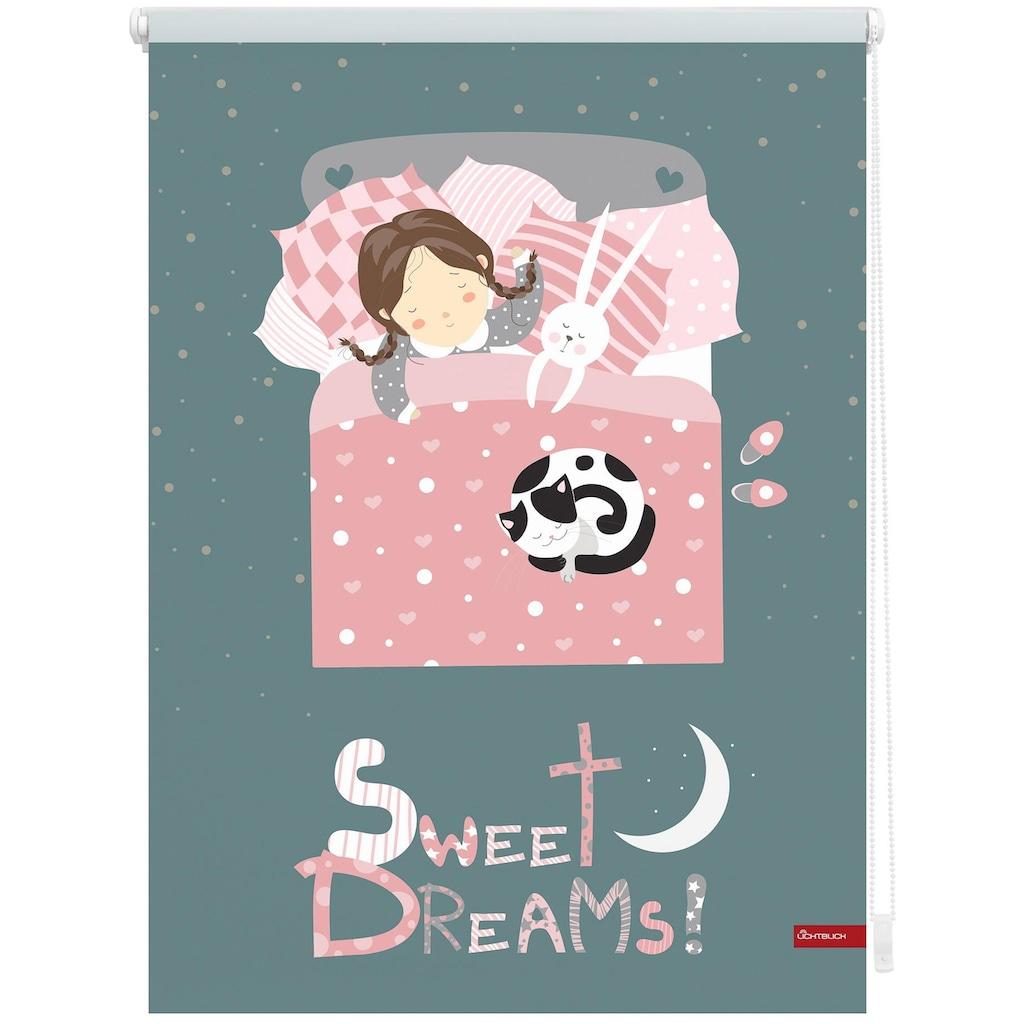 LICHTBLICK ORIGINAL Seitenzugrollo »Klemmfix Digital Sweet Dreams«, verdunkelnd, energiesparend, ohne Bohren, freihängend, bedruckt