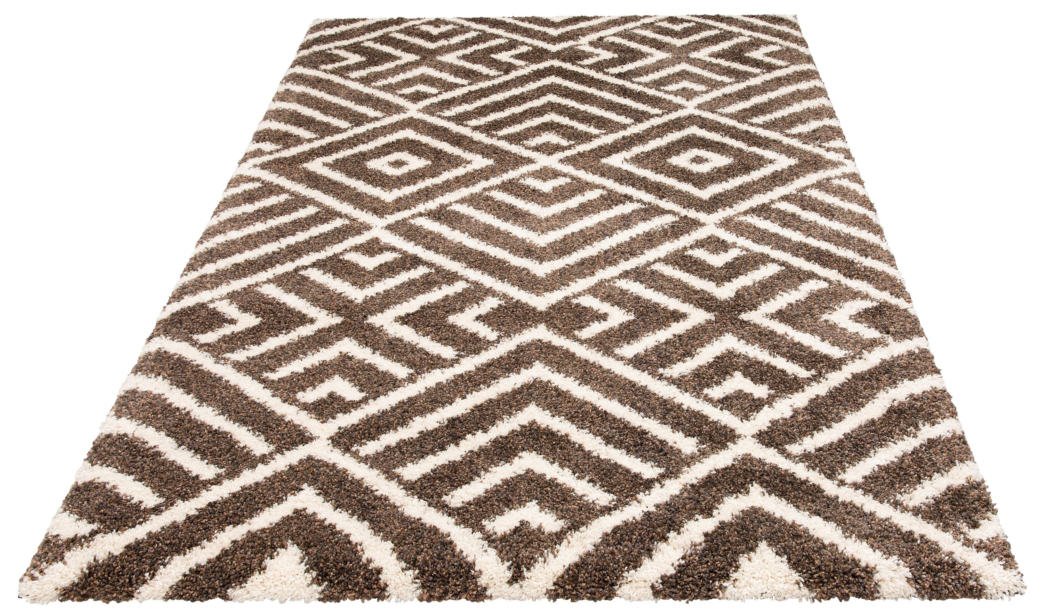 Hochflor-Teppich Banel Bruno Banani rechteckig Höhe 40 mm maschinell gewebt