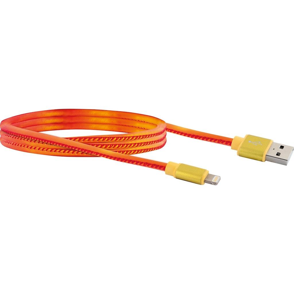 Schwaiger Apple Lightning Kabel, 1,5m Ladekabel für iPhone, iPad iPod »USB 2.0 A zu Lightning«