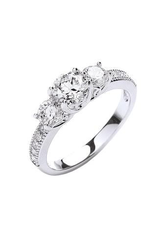 Buckley London Ring rhodiniert mit Kristallen kaufen