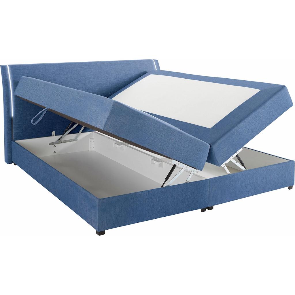 Breckle Boxspringbett, mit Bettkasten und LED-Beleuchtung