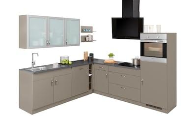 wiho Küchen Winkelküche »Peru«, mit E-Geräten, Stellbreite 260 x 235 cm kaufen