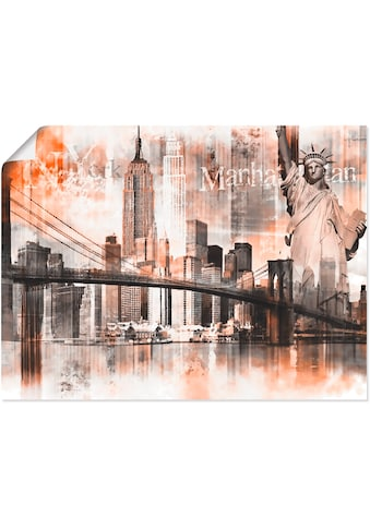 Artland Wandbild »New York Skyline Collage V« kaufen