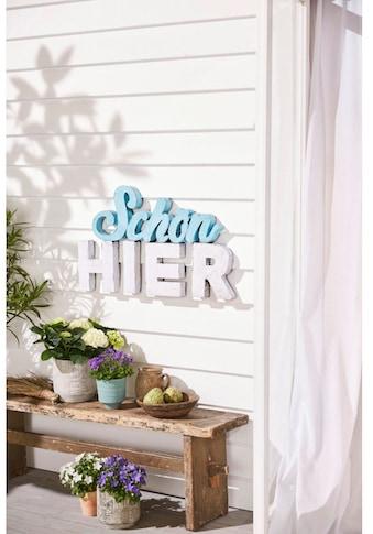 Schneider Wanddekoobjekt »Schriftzug« kaufen