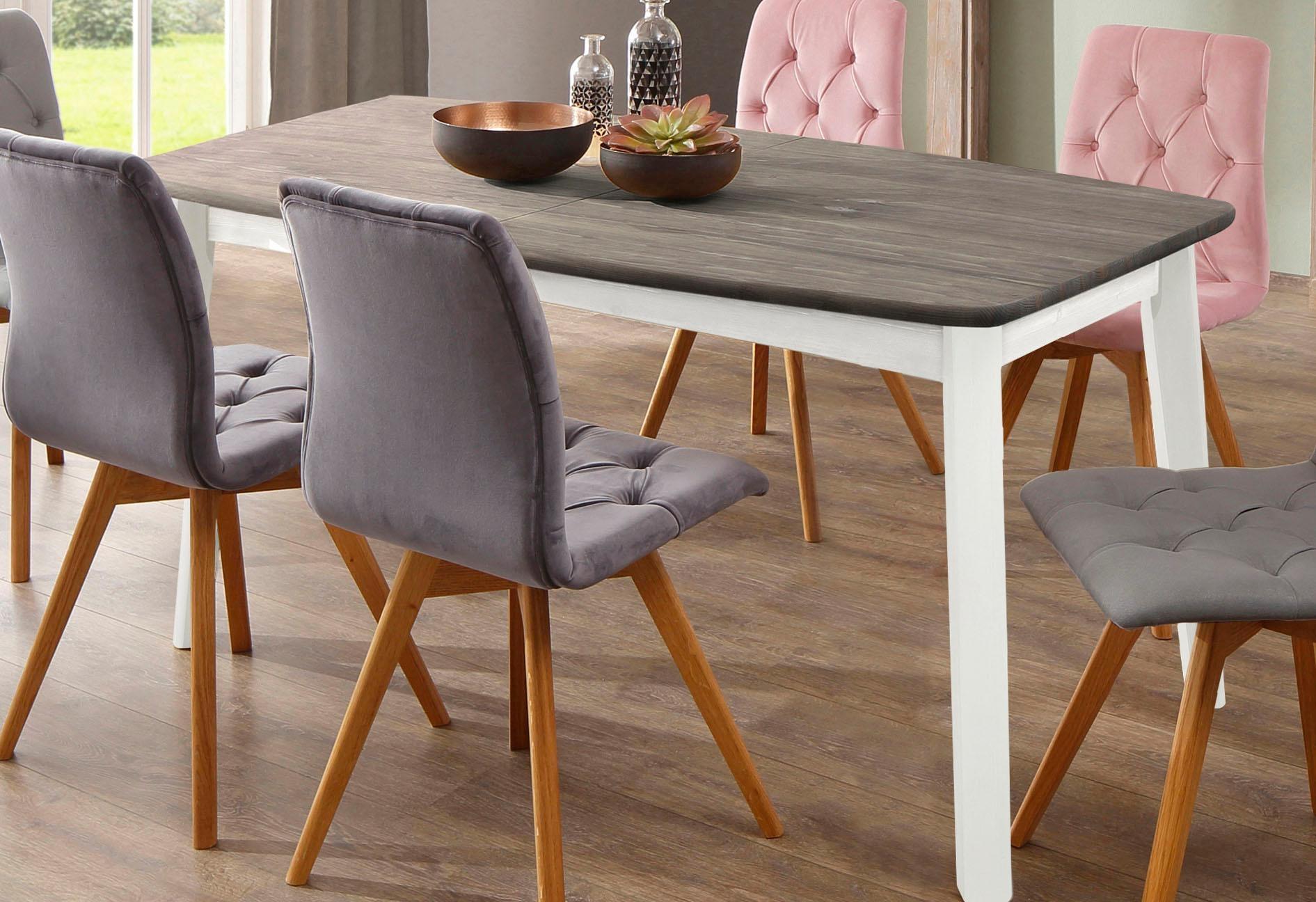 Home affaire Esstisch Palermo, mit Auszugfunktion weiß Holz-Esstische Holztische Tische