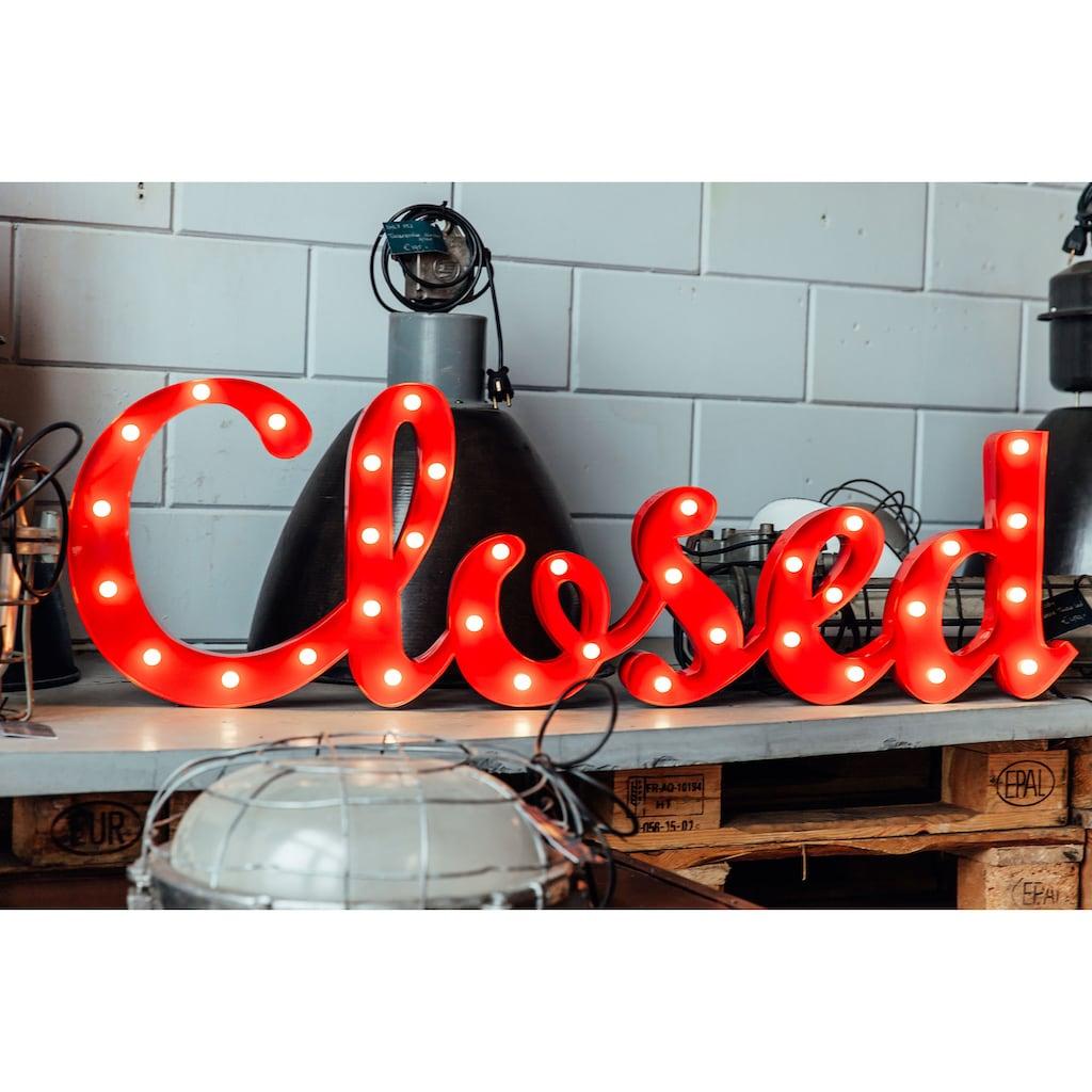 MARQUEE LIGHTS LED Dekolicht »Closed Schriftzug«, 1 St., Warmweiß, Wandlampe, Tischlampe Closed mit 36 festverbauten LEDs - 121cm Breit und 38cm hoch