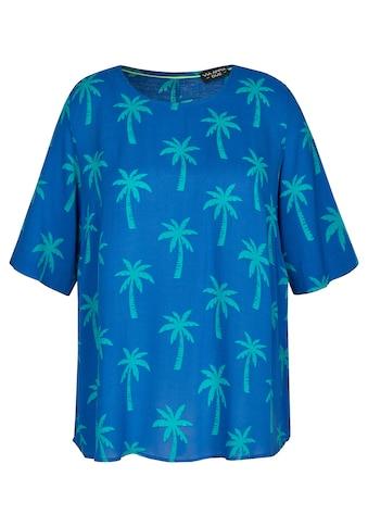 VIA APPIA DUE Sommerliche Bluse mit Allover - Palmen - Print kaufen