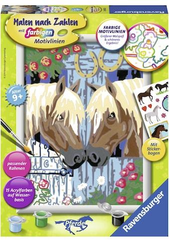 Ravensburger Malen nach Zahlen »Treue Pferde«, Made in Europe kaufen