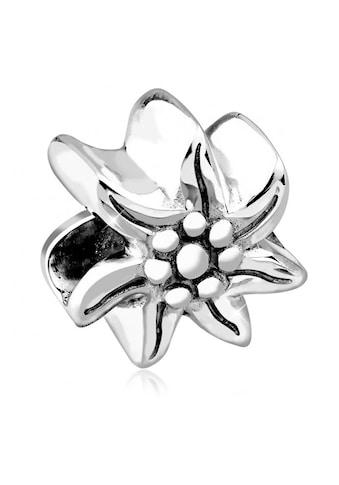 Nenalina Charm-Einhänger »Edelweiss Bead Wiesn Oktoberfest Blume 925 Silber« kaufen