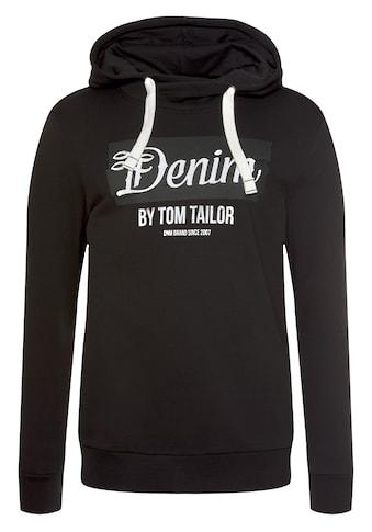 TOM TAILOR Denim Kapuzensweatshirt, mit großem Logo-Print kaufen