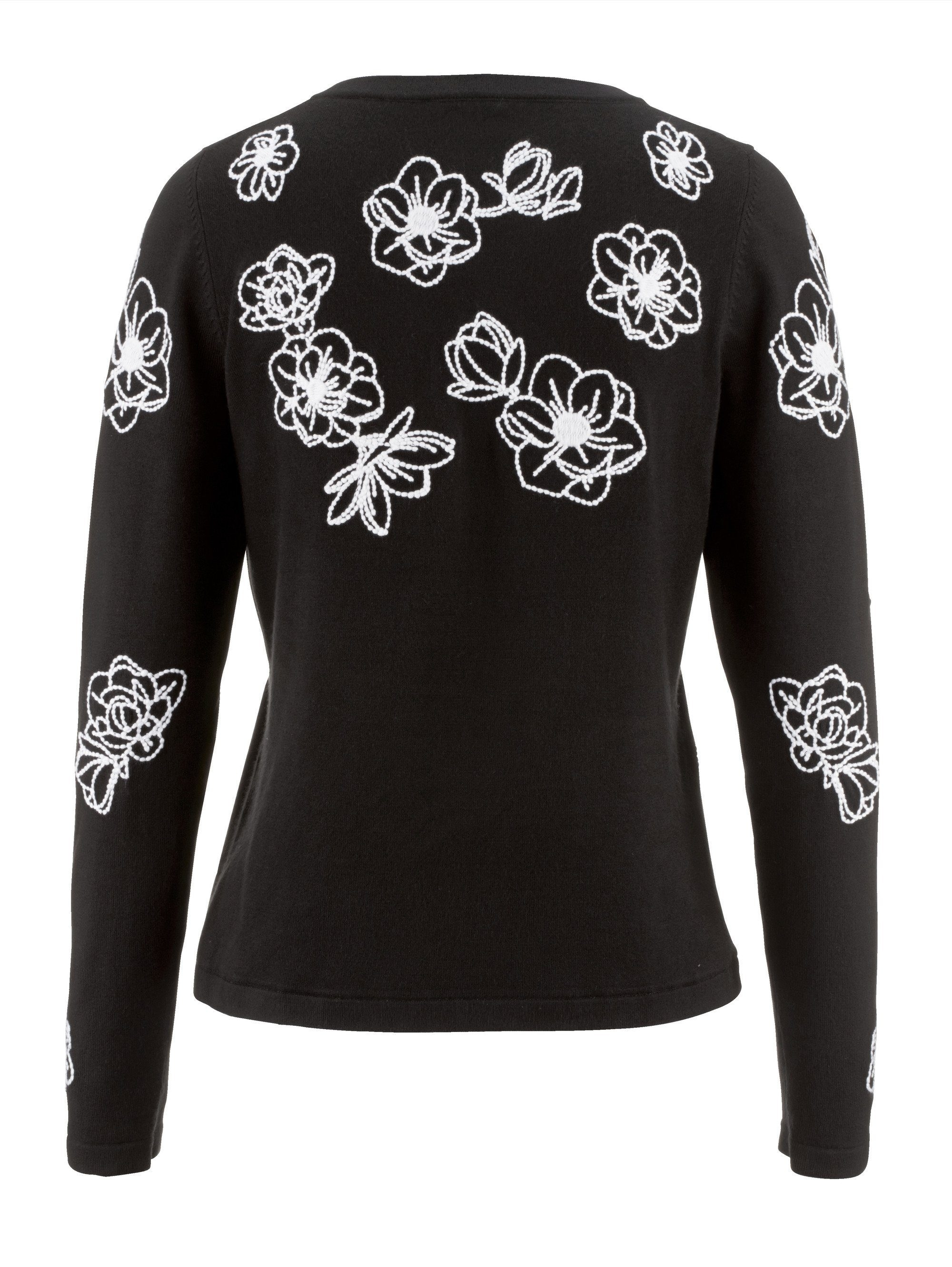 Alba Moda Damen Pullover mit Bluseneinsatz: