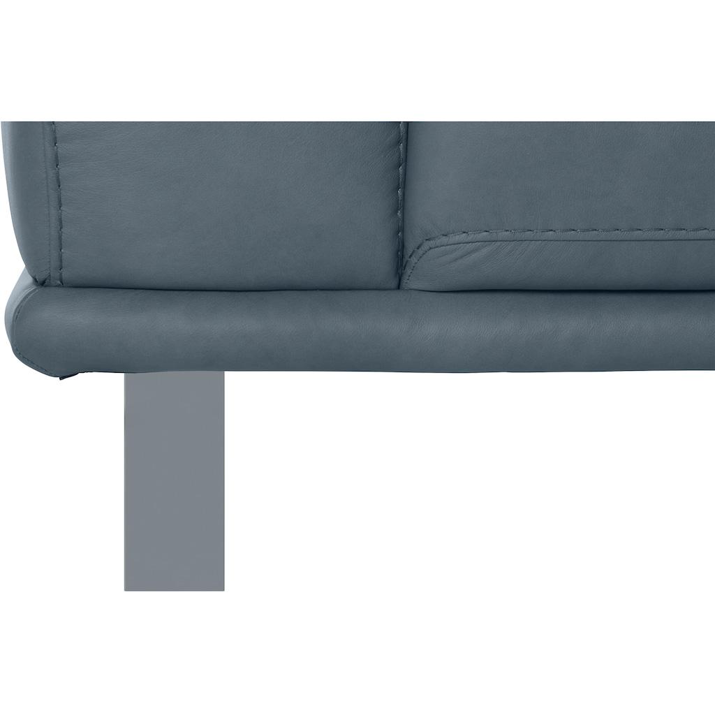 W.SCHILLIG 2,5-Sitzer »montanaa«, mit Metallkufen in Silber matt, Breite 232 cm
