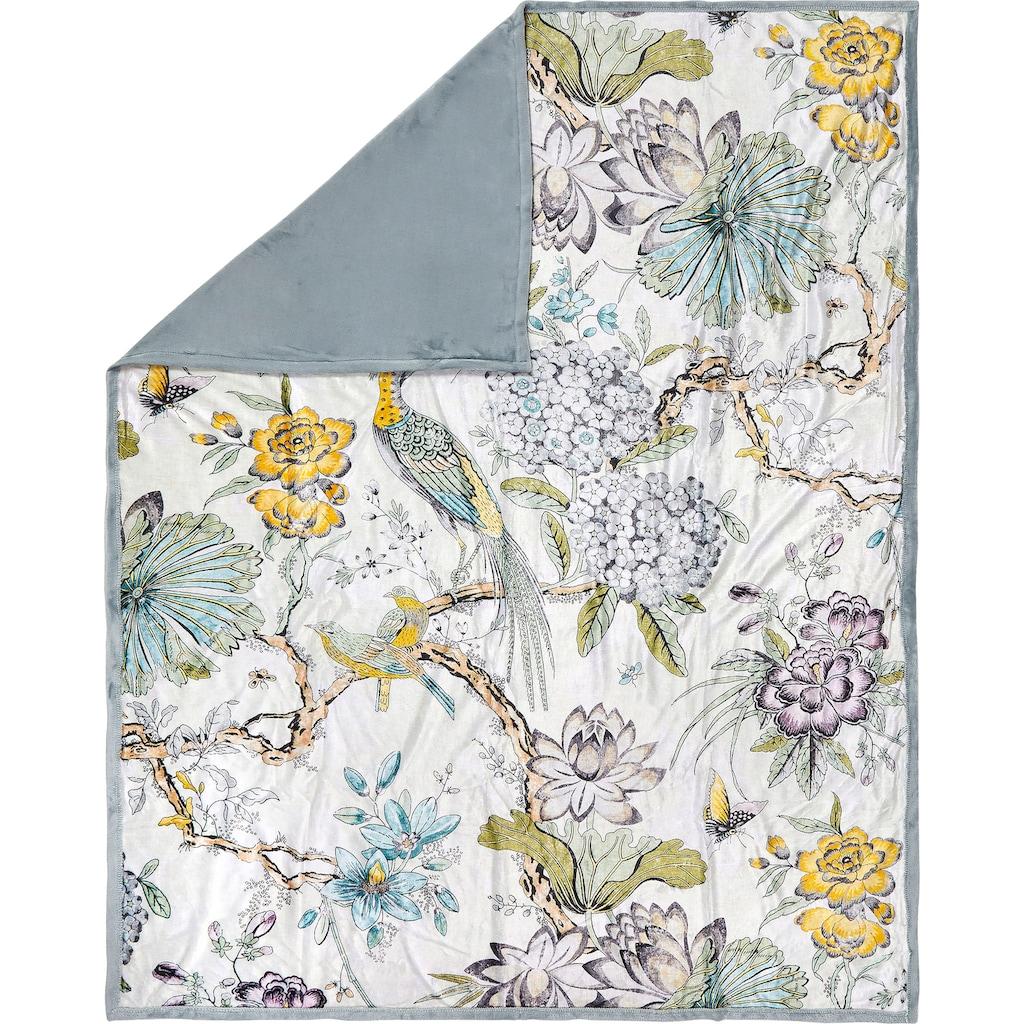 Descanso Plaid »Wood«, mit floralem Muster