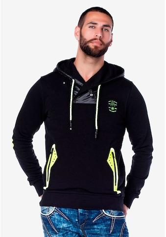 Cipo & Baxx Kapuzensweatshirt, mit auffälligen Neonakzenten kaufen