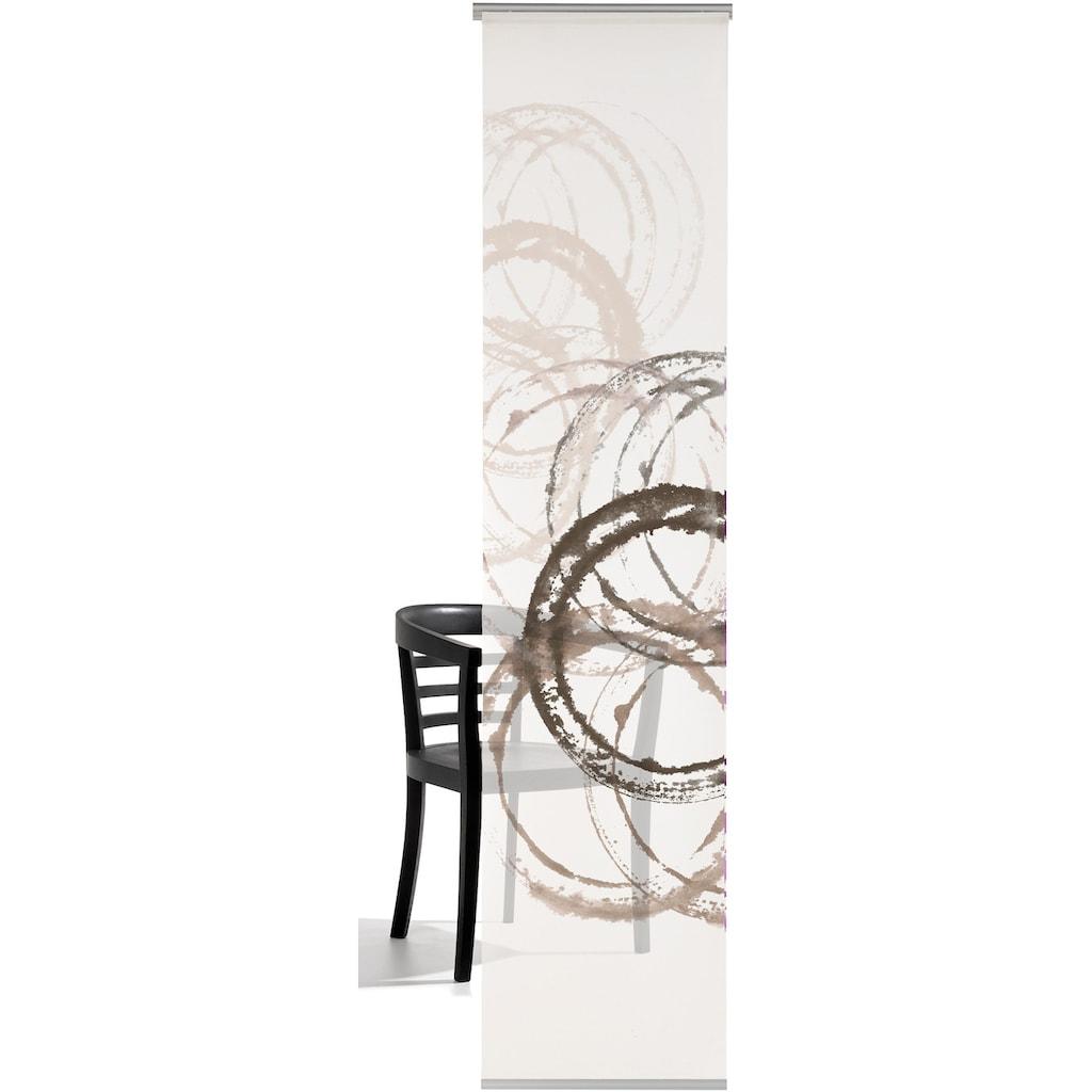 emotion textiles Schiebegardine »Aquarellkreise«, HxB: 260x60, mit Befestigungszubehör