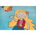 THEKO Kinderteppich »Lisa«, rechteckig, 14 mm Höhe, Kurzflor, hochwertiges Acrylgarn, handgearbeiteter Reliefschnitt (Carving), Kinderzimmer