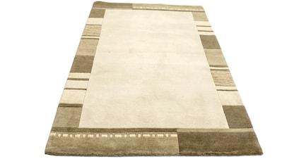 morgenland Wollteppich »Nepal Teppich handgeknüpft beige«, rechteckig, 18 mm Höhe,... kaufen