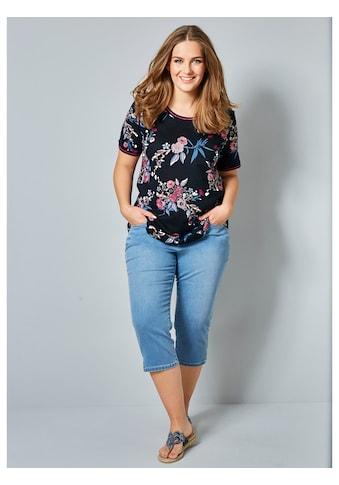 Janet & Joyce Print-Shirt, mit floralem Druck kaufen
