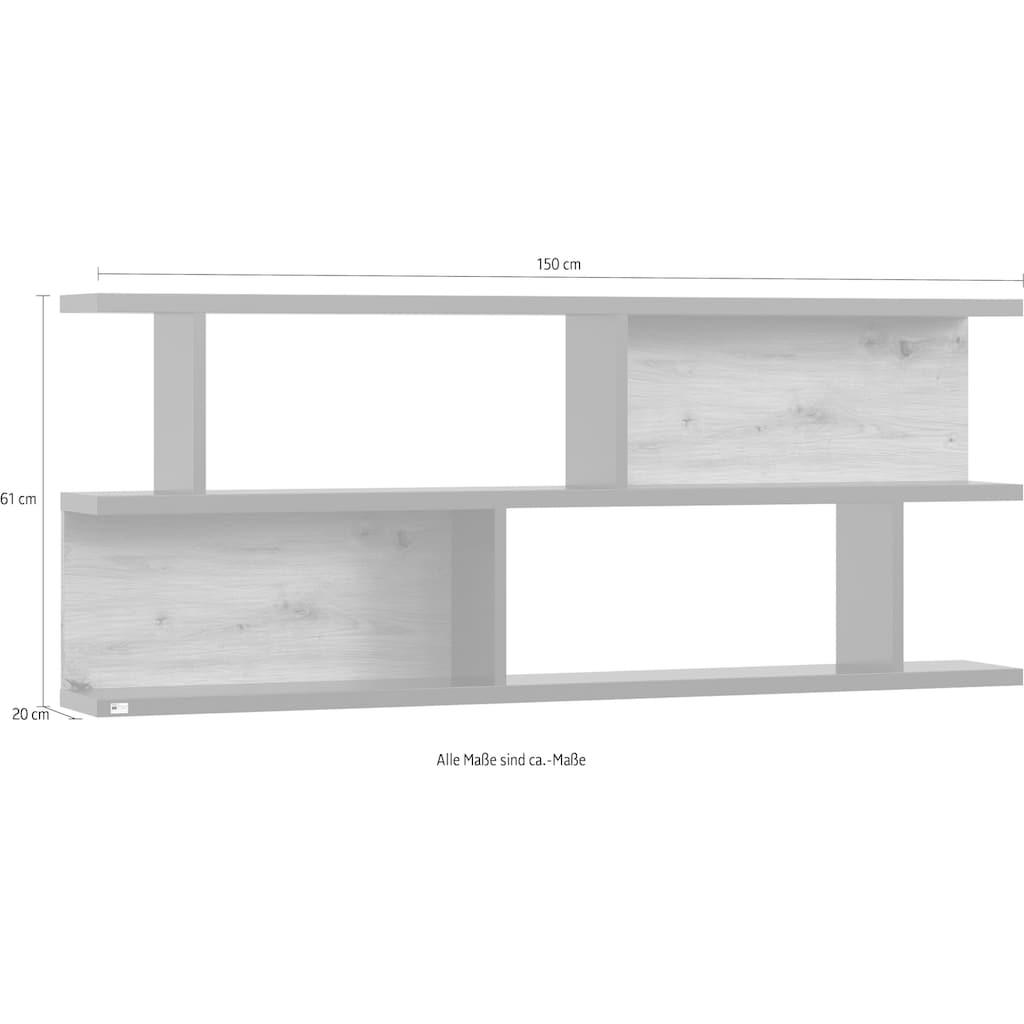 set one by Musterring Hängeregal »york«, Typ 43, 2 Rückwände in Eiche Nachbildung, Breite 150 cm