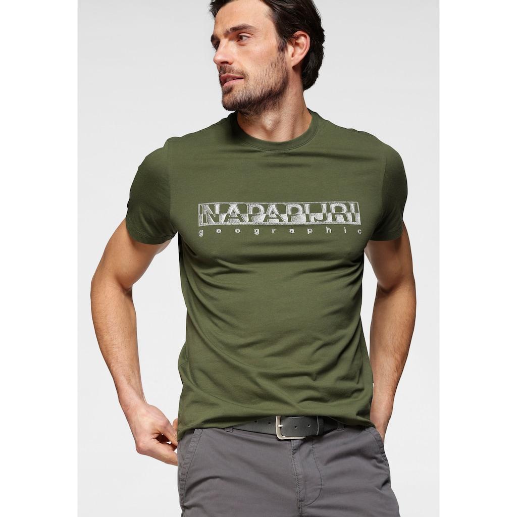 Napapijri T-Shirt, mit Logofrontprint