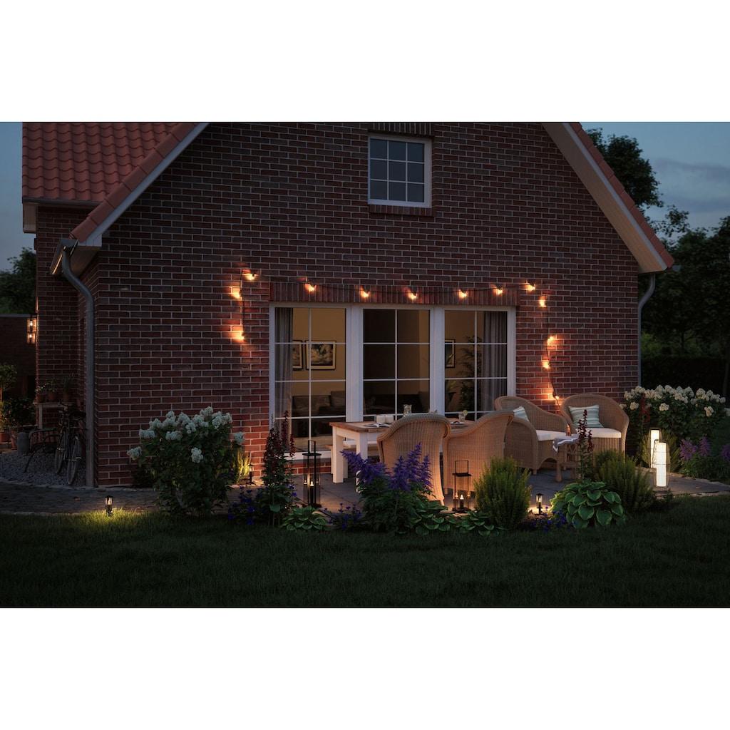 Paulmann LED Gartenleuchte »Outdoor Plug & Shine classic lantern«, E14, 1 St., Extra-Warmweiß, IP44 24V 56cm E14 1900K Anthrazit