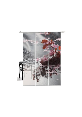 Schiebegardine, »Blütenregen«, emotion textiles, Klettband 3 Stück kaufen