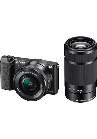 Sony »Alpha ILCE - 5100Y« Systemkamera (SEL - P1650, SEL - 55210, 24,3 MP, WLAN (Wi - Fi) NFC) kaufen