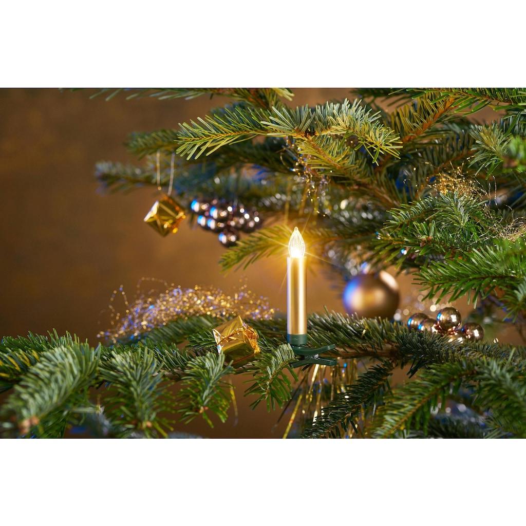 BONETTI LED-Christbaumkerzen, 25 St.-flammig, kabellos, 25 Kerzen plus Zubehör