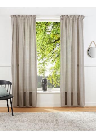 LeGer Home by Lena Gercke Vorhang »Lanea«, Leinenoptik,halbtransparent kaufen
