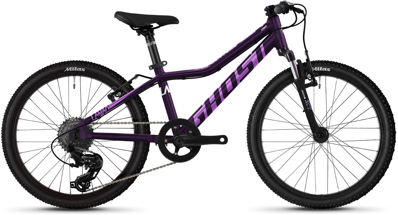 Ghost Kinderfahrrad, 8 Gang, Shimano, Tourney TX Schaltwerk, Kettenschaltung lila Alle Fahrräder Zubehör Fahrrad