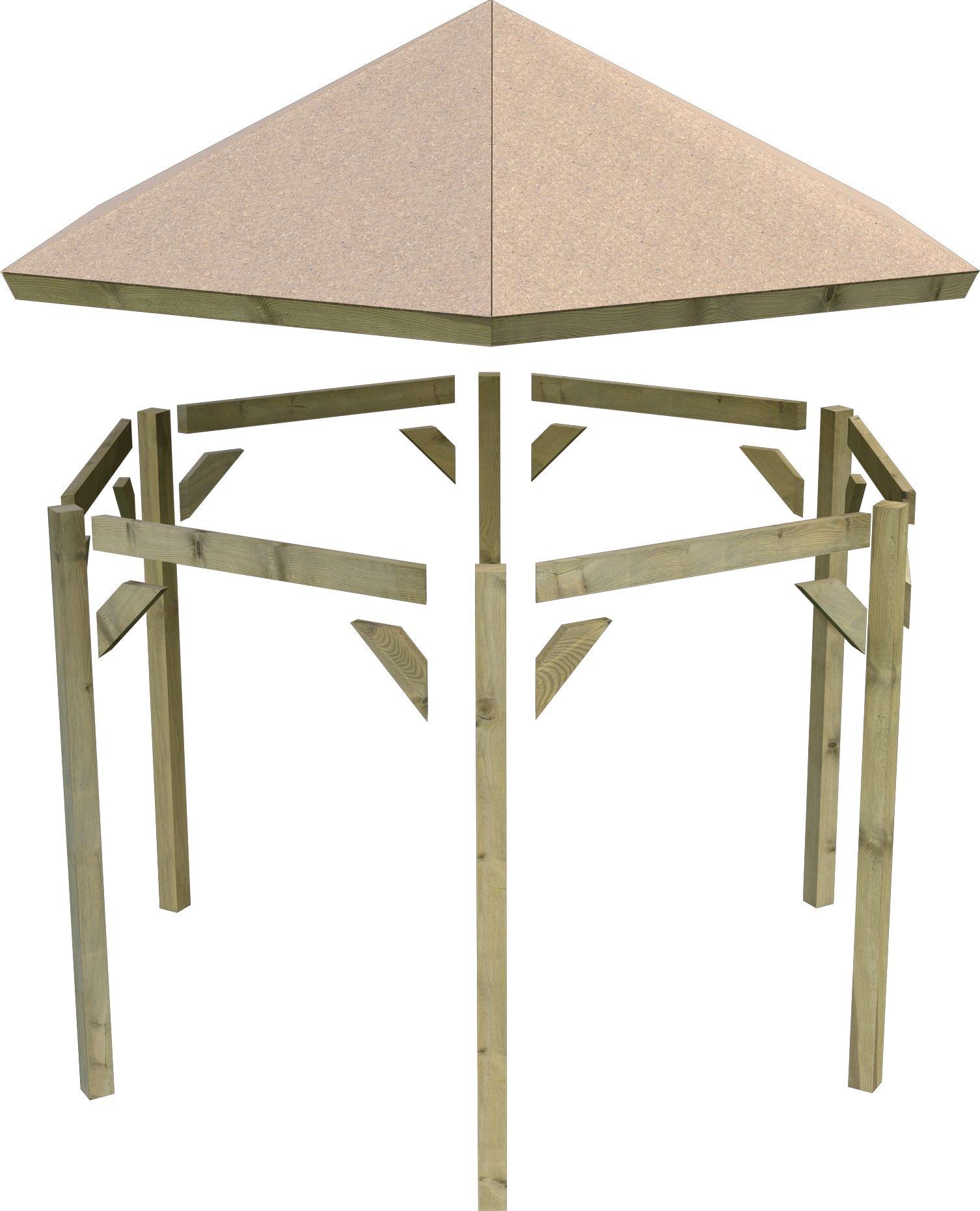 Karibu Holzpavillon Madrid, BxT: 349x302 cm günstig online kaufen