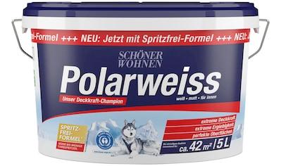 SCHÖNER WOHNEN FARBE Innenfarbe »Polarweiss«, 5 l, starke Deckkraft kaufen