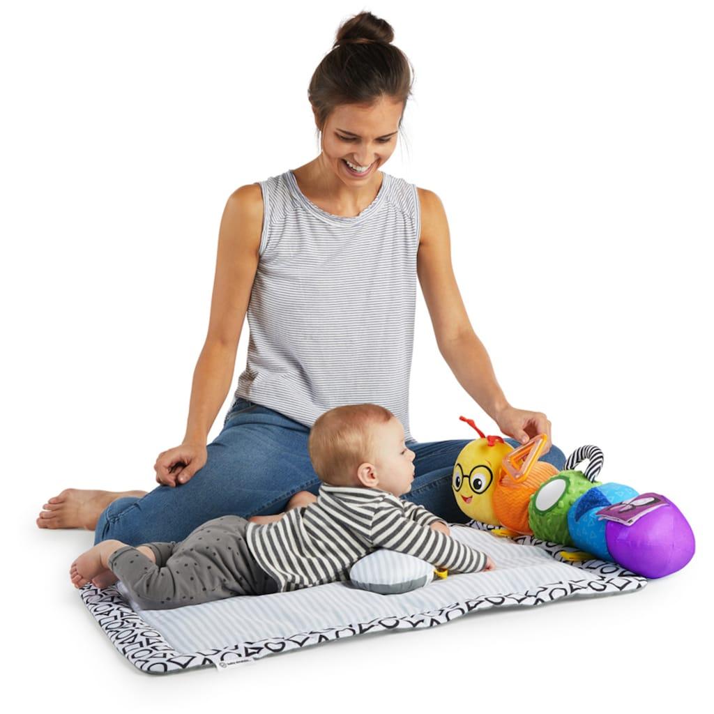 Baby Einstein Krabbeldecke »Baby Einstein, 3-in-1 Spieldecke Raupe To-Go«, mit Kissen und Greifspielzeug