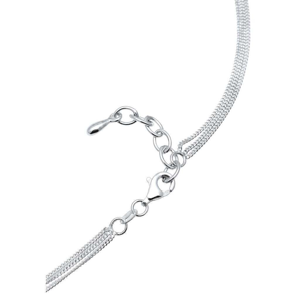 Elli Collierkettchen »Choker 3-reihig Kristalle Silber«